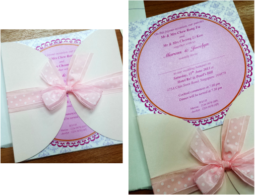 Wedding invitations journey of a lifetime together second design but looks more like a baby shower card with the pink ribbon top up sgd204 for printing stopboris Choice Image